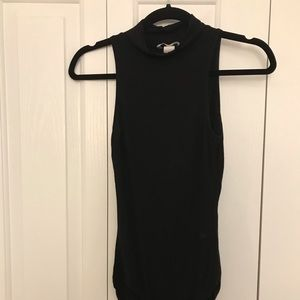 H&M black mock-turtleneck sleeveless bodysuit, EUC